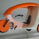 Plastilin-Modell der Karosserie