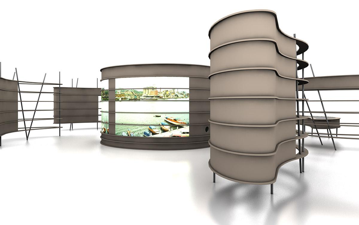 3-D-Animation der Ausstellungsmodule