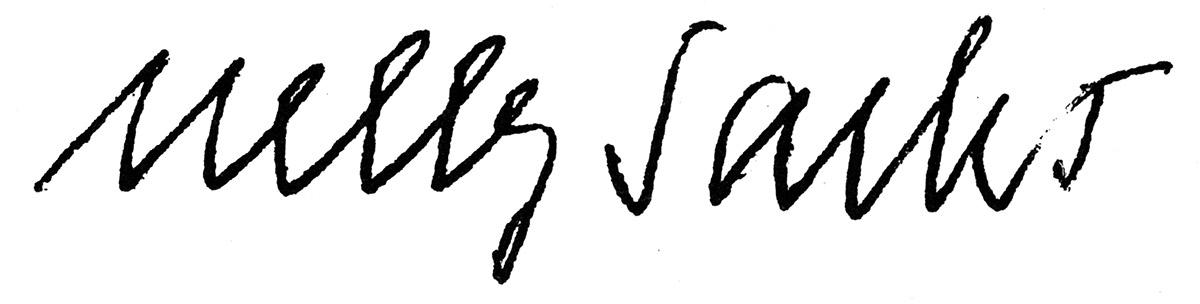 Unterschrift Nelly Sachs