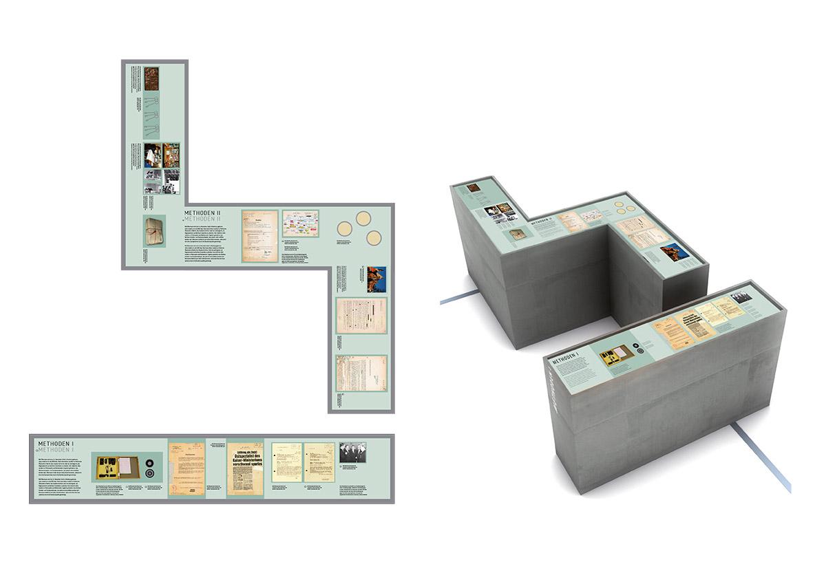 2-D und 3-D-Visualisierung des Stasi-Labyrinthes