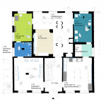 "<span class=""deutsch"">Grundriss Haus des Sammlers</span><span class=""englisch"">layout plan of the Haus des Sammlers, the »collector's residence«</span>"