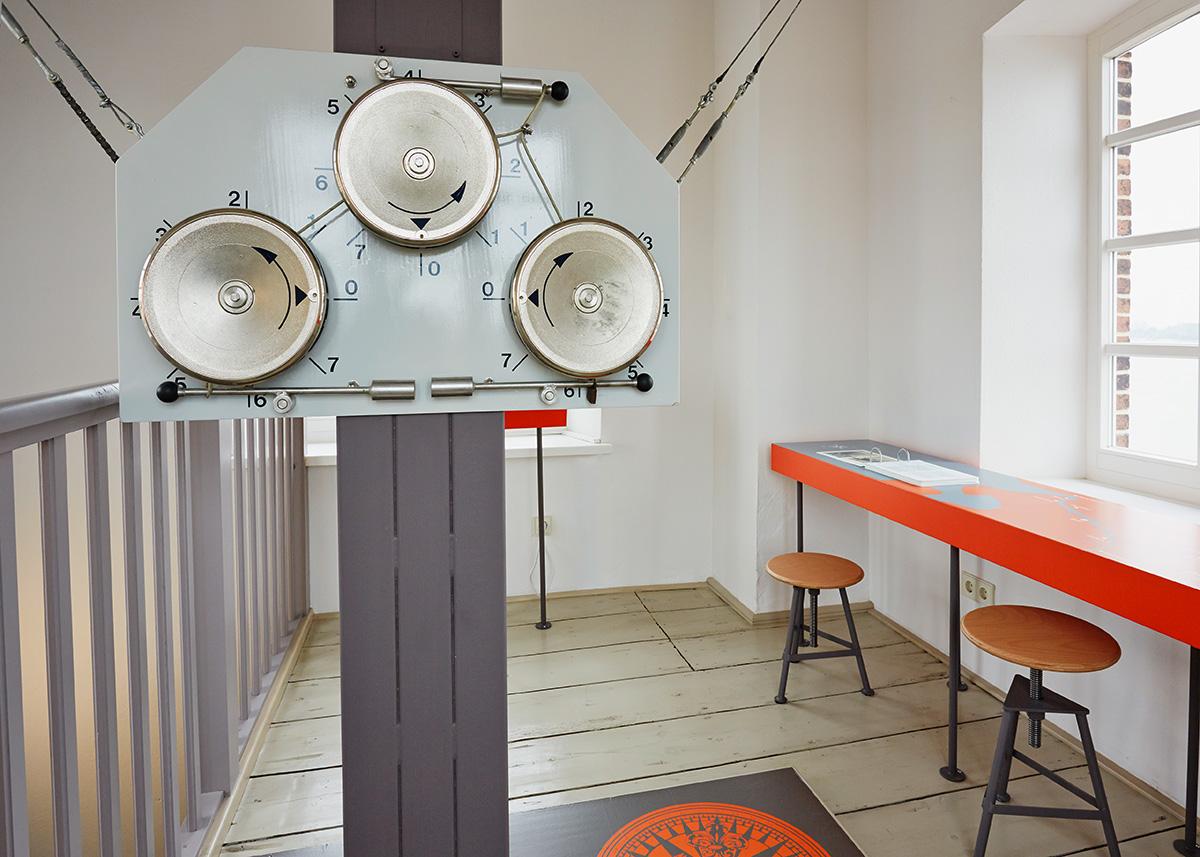 Optischer Telegraph im Ausstellungsraum