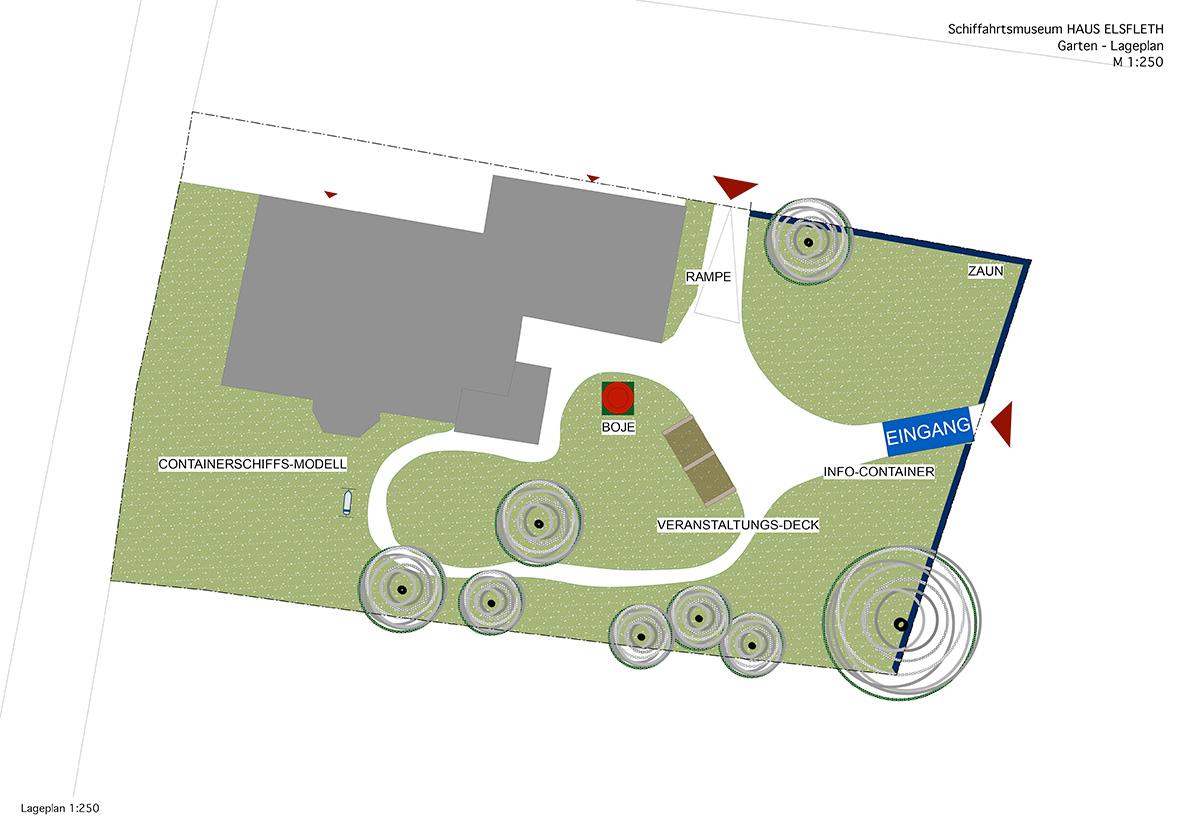 Grundrissplan Elsfleth mit Gartenanlage