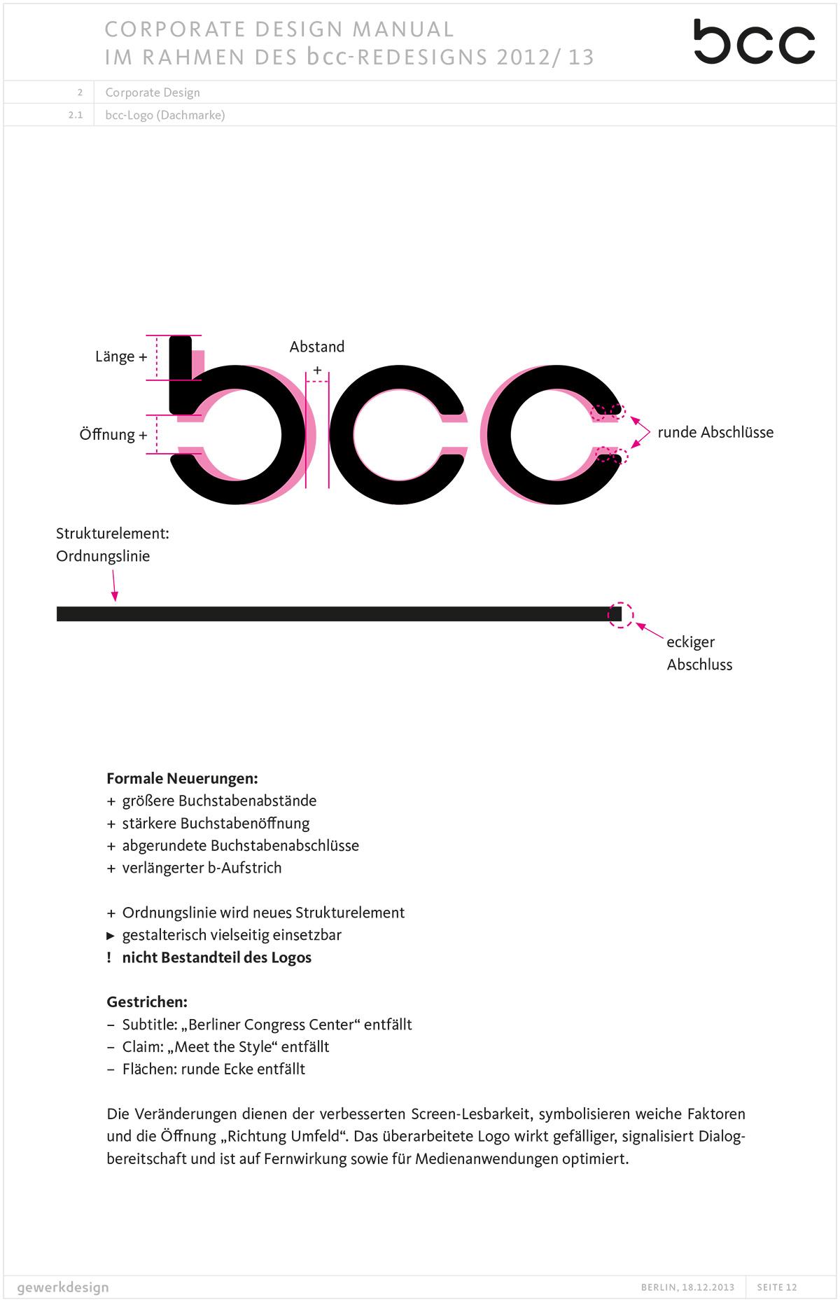 Redesign Schriftzug bcc