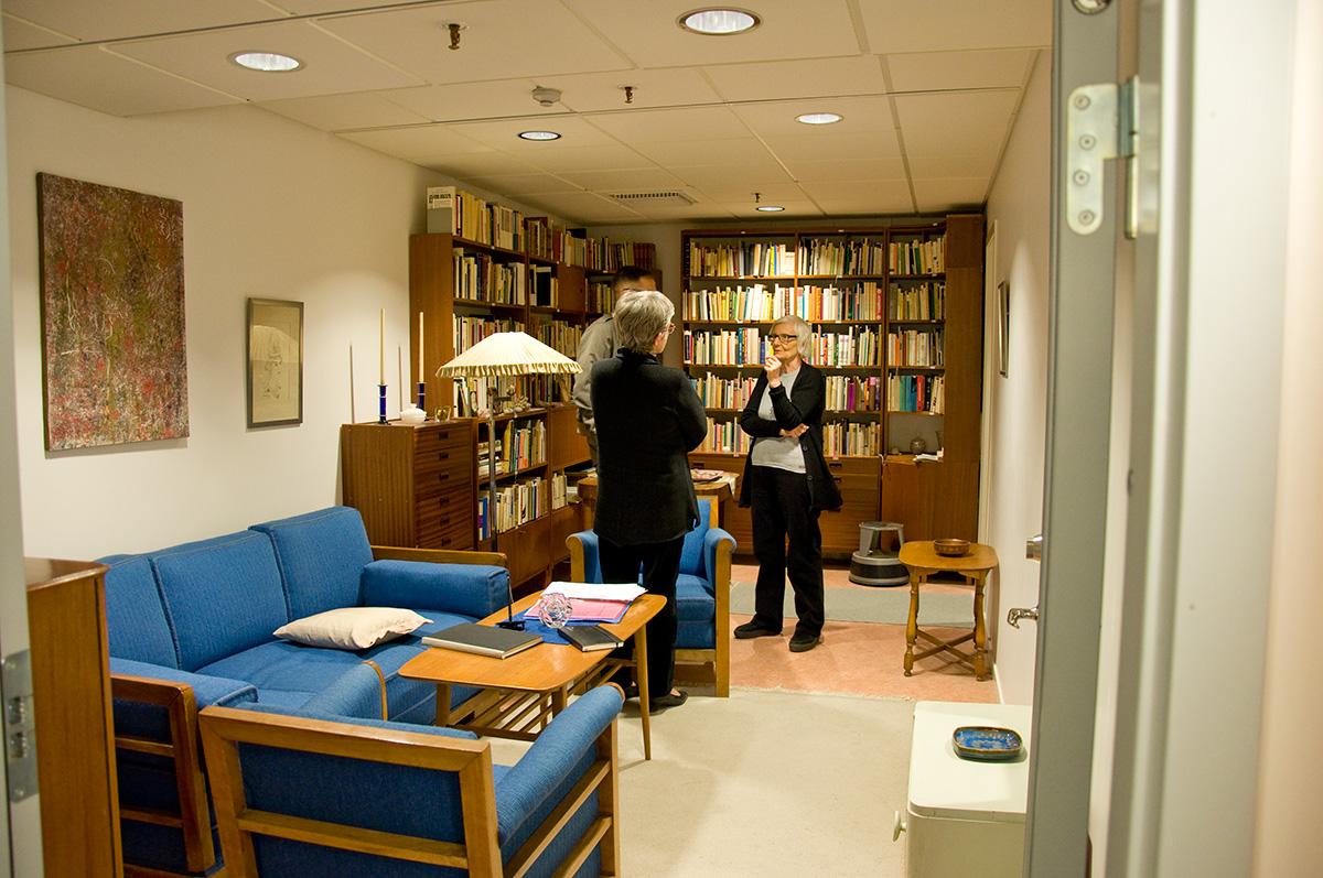 Nachstellung des Wohnzimmers von Nelly Sachs in der Königlichen Bibliothek Stockholm