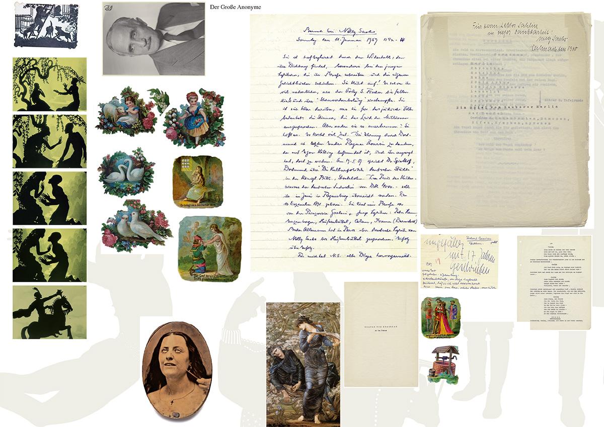 Sammelproof mit Bildern für den Katalog