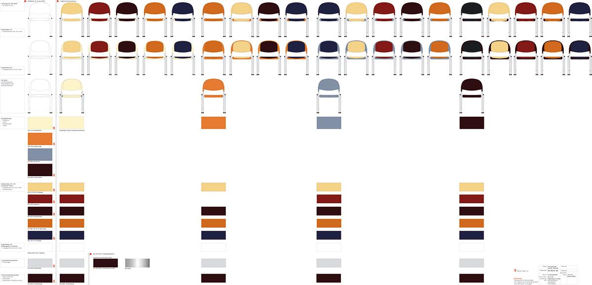 Farbvarianten Stuhl