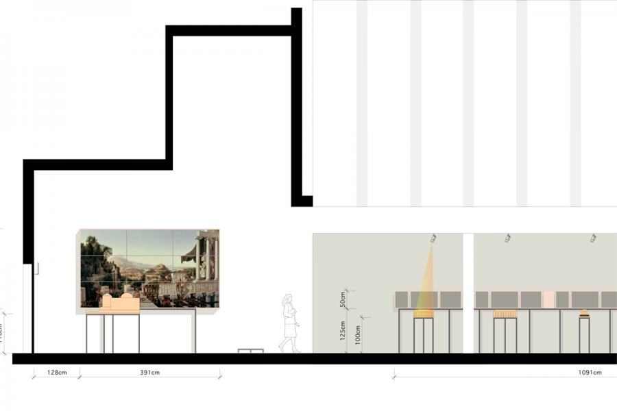 archeological walk at the james simons gallery berlin gewerkdesign. Black Bedroom Furniture Sets. Home Design Ideas