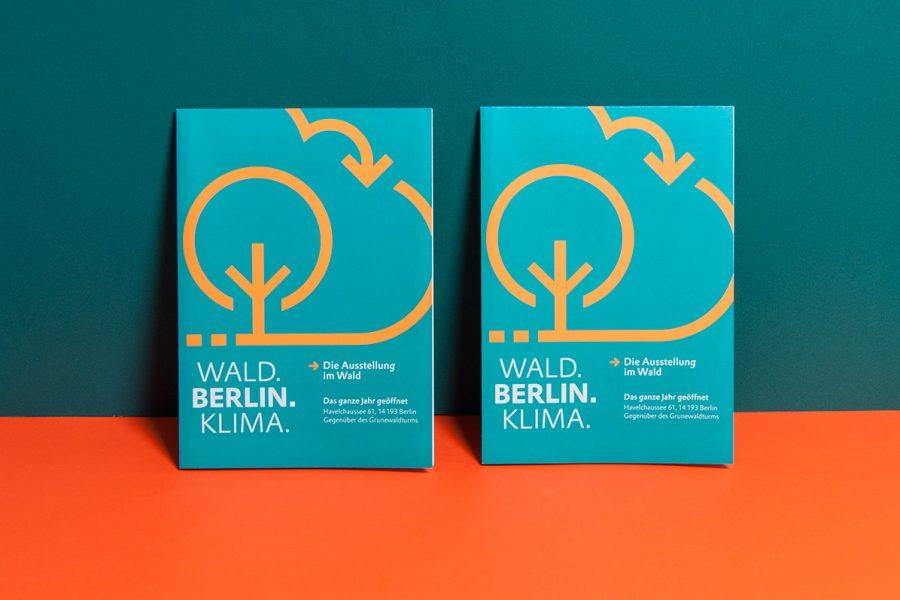 Wald berlin klima die ausstellung im wald gewerkdesign for Grafik design berlin