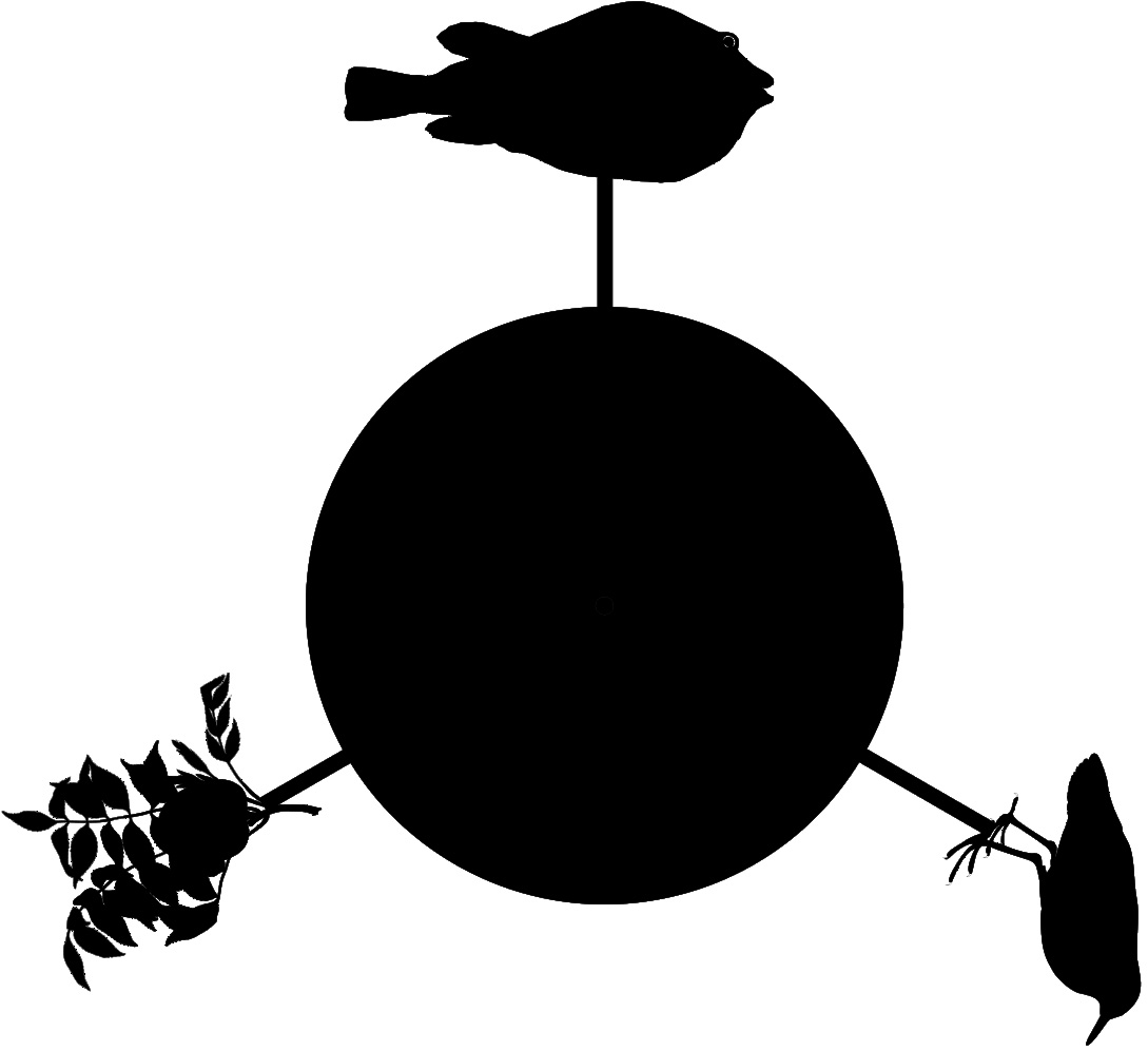 Fertigungsschablone Schattenspiel mit Forsters Zeichnungen