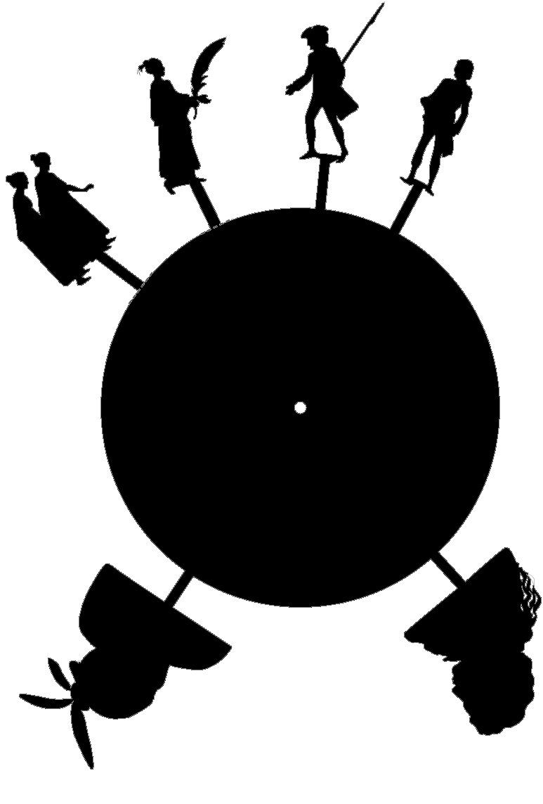 Fertigungsschablone Schattenspiel mit Forsters Begegnungen