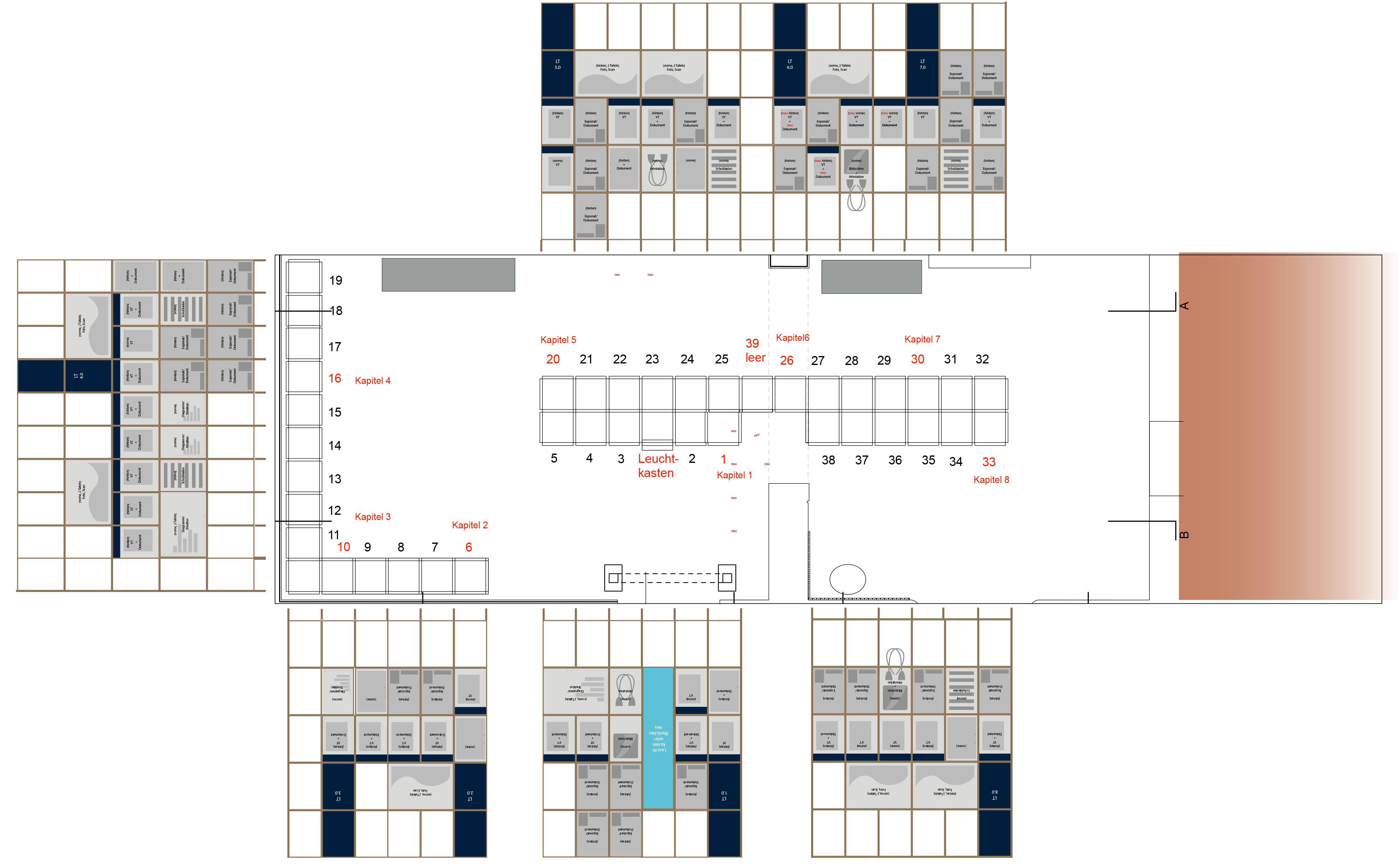 Wandabwicklung der Ausstellung Stasigefängnis Bautzen II