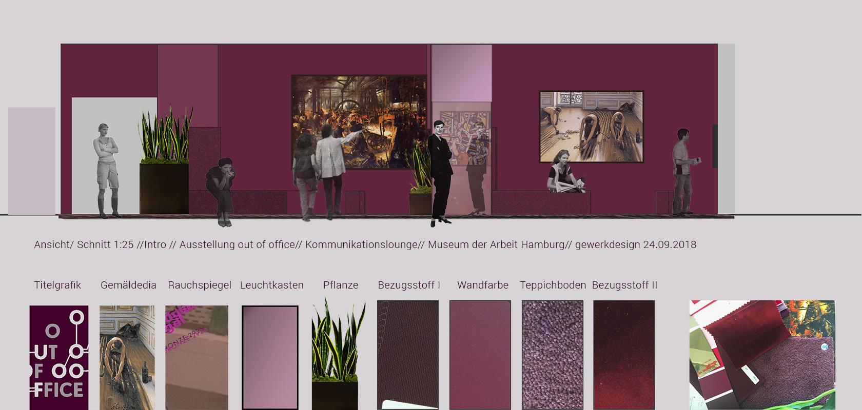 Skizze Lobby / Prolog der Ausstellung