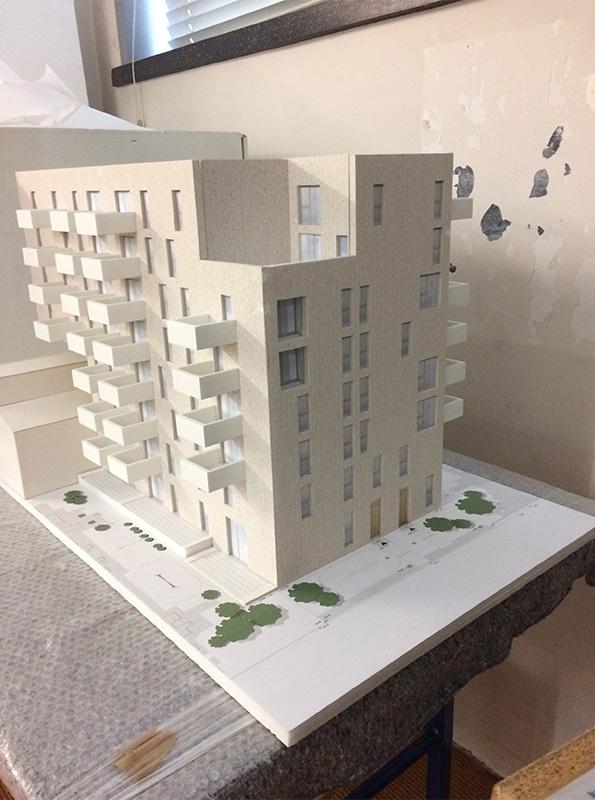 Ausstellungsobjekt Architekturmodell