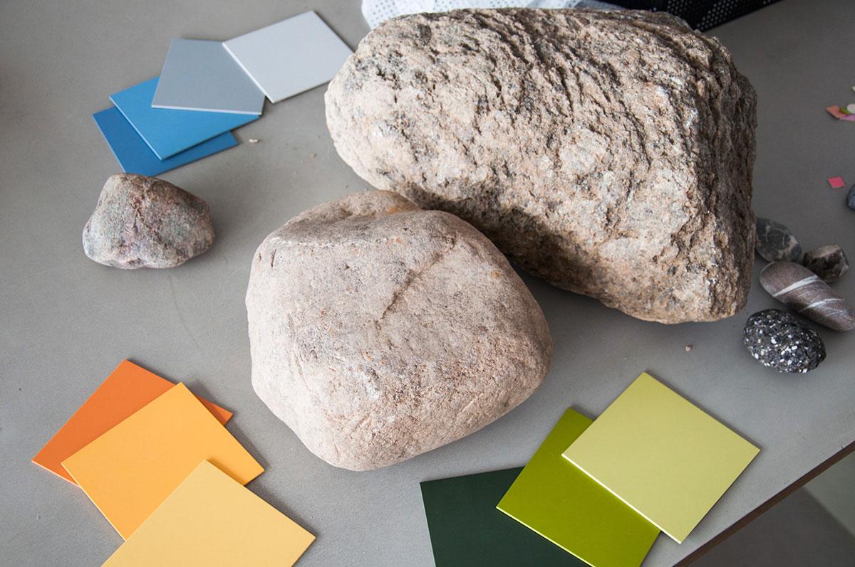 Bestimmung Materialien und Farben