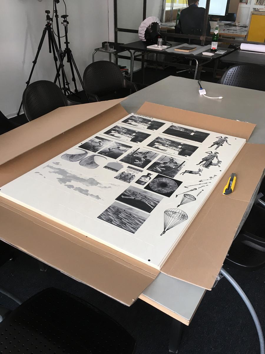 Digitaldruck des Bildmaterials auf Finnpappebögen