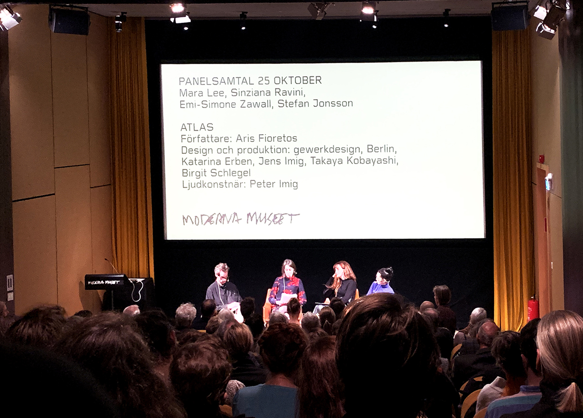 "<span class=""deutsch"">Anschliessende Paneldiskussion zum Buchprojekt ATLAS</span><span class=""englisch"">Panel discussion on the book project ATLAS following the opening</span>"