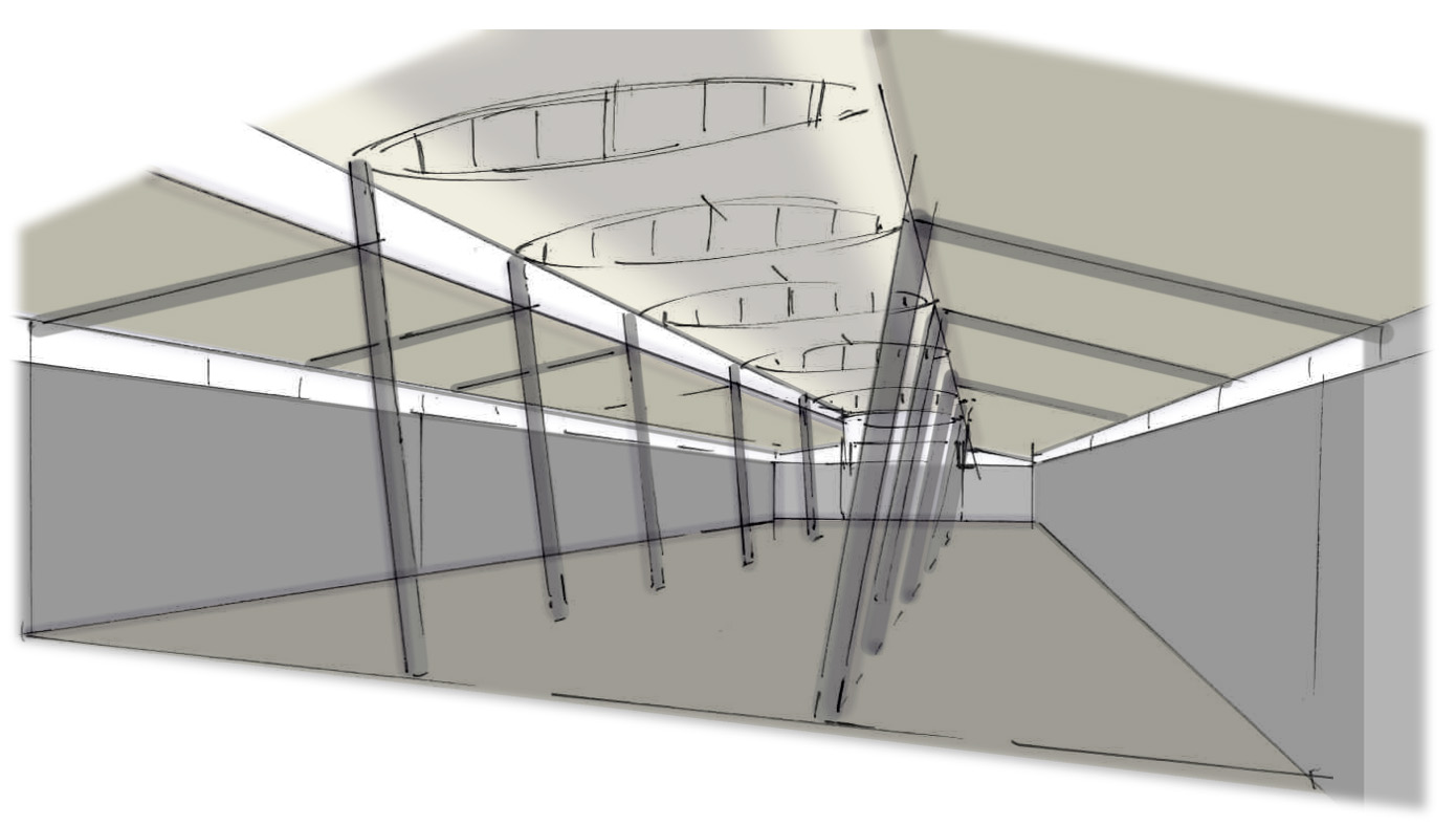"<span class=""deutsch"">Ausstellungshalle leer_Entwurfsskizze</span><span class=""englisch"">empty exhibition hall_design sketch</span>"