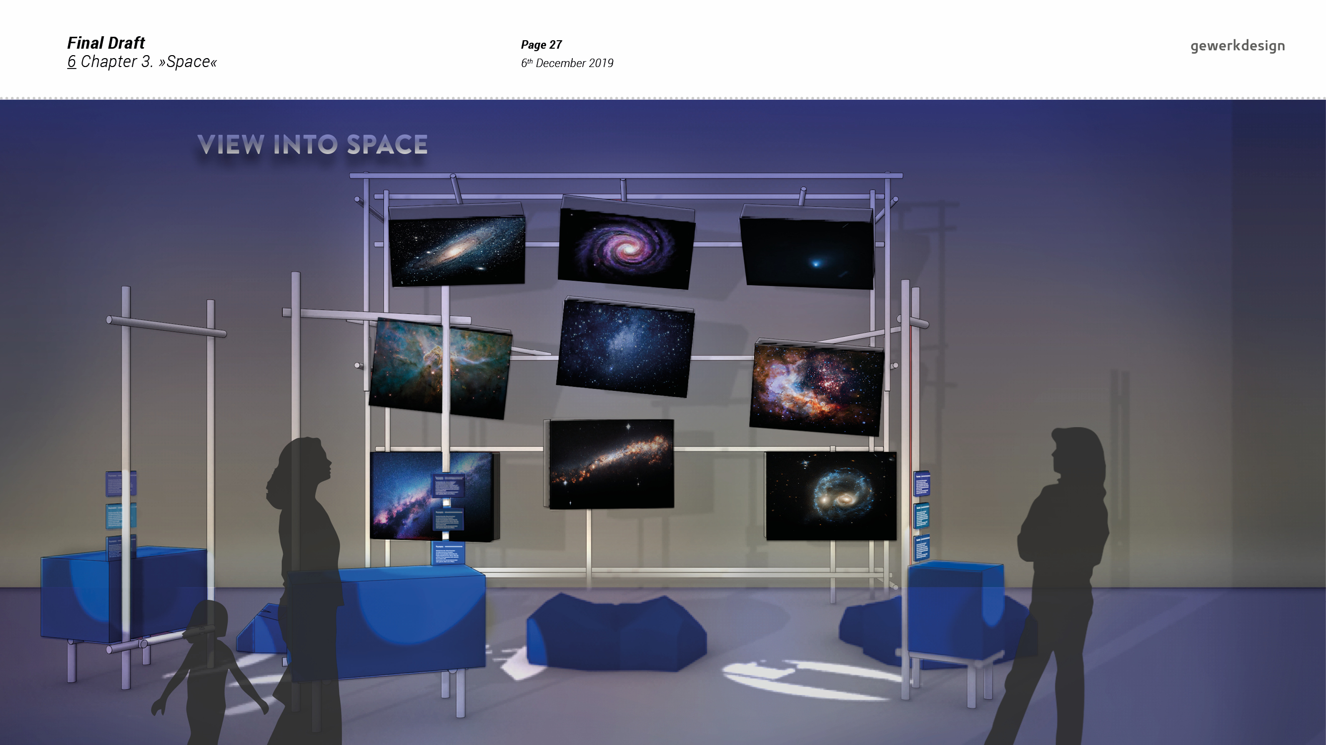 "<span class=""deutsch"">Entwurfsprozess: Visualisierung 3D-Thema View into space</span><span class=""englisch"">design process: visualising the chapter_View into space</span>"